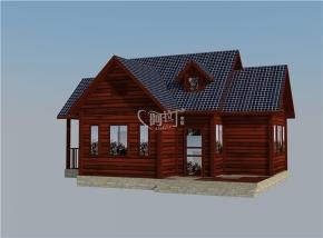 69平米一室一厅一厨一卫木屋套房