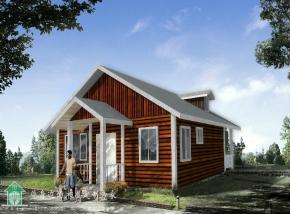 80㎡两室一厅一厨一卫带阁楼木屋套房