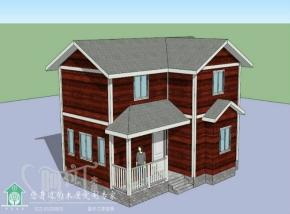两室两厅一厨一卫木别墅